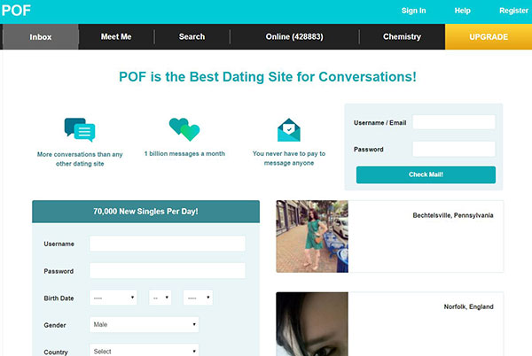 What is pof online dating